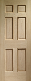 Internal Oak Doors Colonial 6 Panel with Raised Mouldings