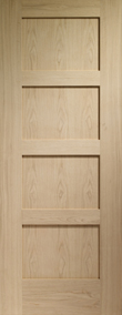 Internal Doors Oak Shaker 4 Panel