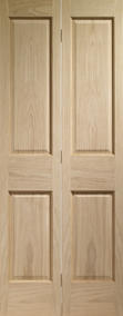 Internal Oak Victorian 4 Panel Bi-Fold