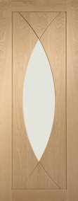 Internal Oak Doors Pesaro with Clear Glass