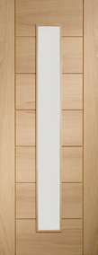 Internal Oak Door Palermo with Clear Glass