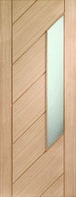 Internal Door Oak Monza with Obscure Glass