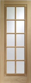 Internal Oak Whitechapel with Bevelled Glass